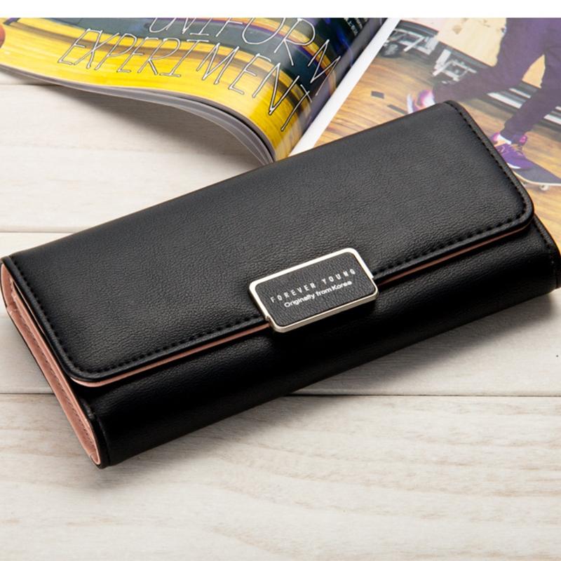 01a72508433 Women's wallet long section three fold clutch bag sweet simple wallet small  fresh wallet