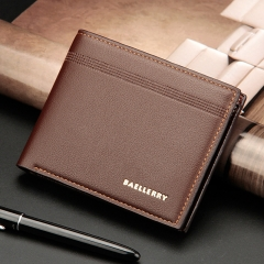 New Men's Purse Short Multi-karat Business Wallet With Horizontal Style Wallet coffee color 12.2 * 9.8 *2.2cm