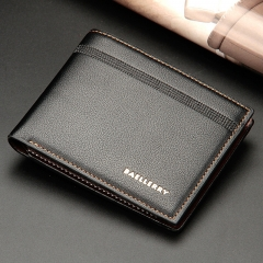 New Men's Purse Short Multi-karat Business Wallet With Horizontal Style Wallet black 12.2 * 9.8 *2.2cm