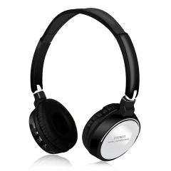 Hot Sale Wireless Bluetooth Stereo Headset Foldable Headphone Earphone for iPhone Samsung Android white