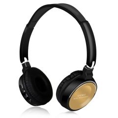 Hot Sale Wireless Bluetooth Stereo Headset Foldable Headphone Earphone for iPhone Samsung Android black+gold