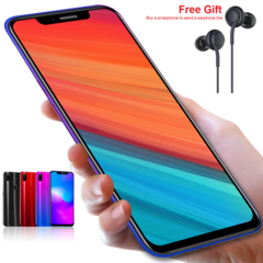 New mobile phone X21 Plus 6.2 Inch 4+64GB Full screen 16+8MP Smart phone android 8.1 red