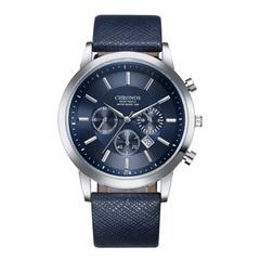 Military Men's Business Wrist Top Brand Luxury Sport Digital Leather Strap Quartz Watches #1 Dial Diameter:42mm