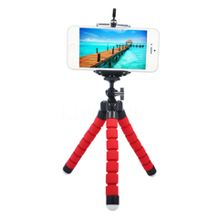 Phone Holder Flexible Tripod Bracket Selfie Expanding Stand Mount Monopod Styling For Phone Camera red normal