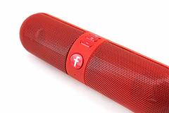 Portable Capsule Wireless Stereo Mini Bluetooth Speaker F-Pill, FM Radio, TF Card, Multi Function red one size
