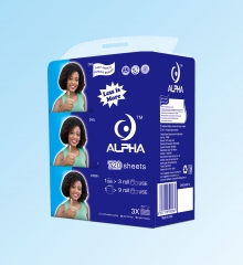 ALPHA 3 Pcs In 1 Package TOILET PAPERS white normal size