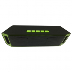 SC208 Wholesale cheap price Bluetooth play smart mini active  speaker waterproof party speaker green 20*4*6.4