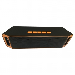 SC208 Wholesale cheap price Bluetooth play smart mini active  speaker waterproof party speaker orange 20*4*6.4