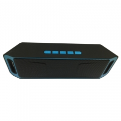 SC208 Wholesale cheap price Bluetooth play smart mini active  speaker waterproof party speaker blue 20*4*6.4