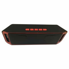 SC208 Wholesale cheap price Bluetooth play smart mini active  speaker waterproof party speaker red 20*4*6.4