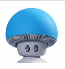 XMG New design mushroom style wireless music bluetooths speaker mini  speaker with suction cup blue 5.5*5.5