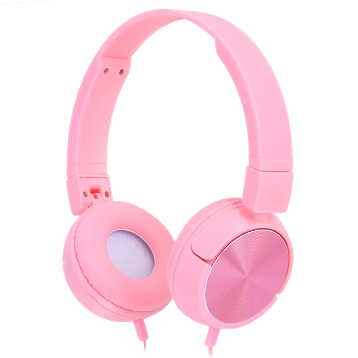 GKH20 Hot selling  airline wired headphones wholesale fashion design wired headphone pink