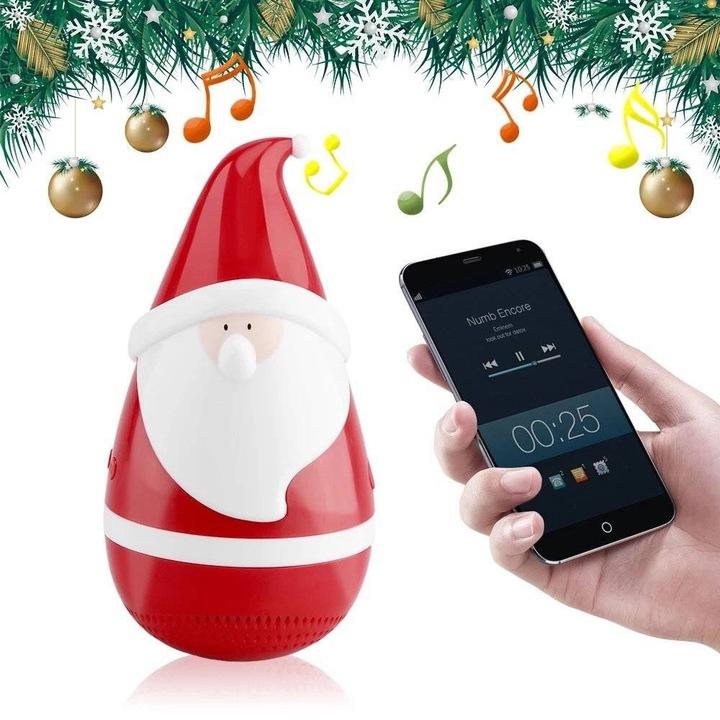 KT08 Portable Mini Santa Claus  tumbler bluetooth speaker  Valentine  New Gift  everlasting love red 7.3*6.7*14.4CM