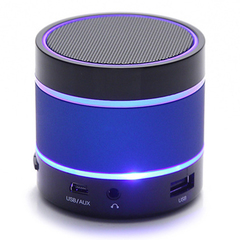 S09 Wireless Hands-free Talk / TF Card / Voice radio  bluetooth  mini Colorful lights speaker blue 6*6*6.5
