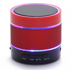 S09 Wireless Hands-free Talk / TF Card / Voice radio  bluetooth  mini Colorful lights speaker red 6*6*6.5