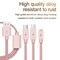 USB Cable For iPhone XS Max XR X 8 7 6 5 Charging Charger 3 in 1  For Mobile Phone USB Type c Type-c rose glod 1m