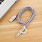 2 in 1 Nylon Charge Cable For iPhone 7 8 Plus X For iPad Mini Fast Charger Cables For Android phones silver 0.25m