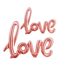rose gold or red letter Love shape foil balloon for wedding or birthday party or valentines day red 23 inch