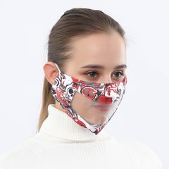 Facemask  Protection Clear Window Visible Expression For The Deaf And Hard Of Hearing  Masque KZ-33