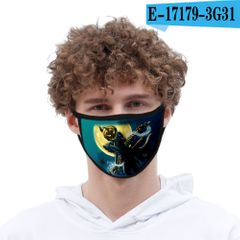 Anime  Cartoon Cosplay Cotton Black Dust-Proof Windproof Fluorescence protect Halloween Accessories X style