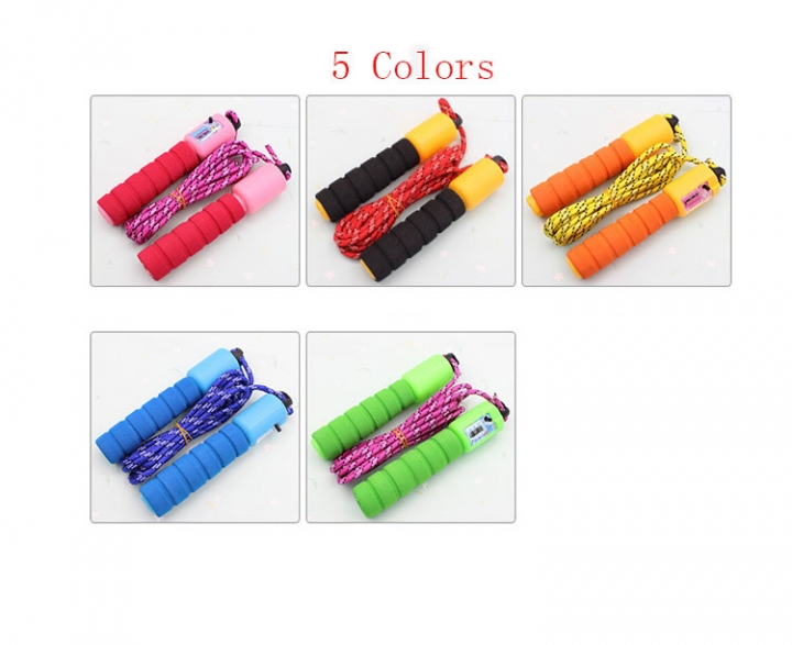 1 Pcs Skipping Rope With Digital Counter sponge handle high quality-5 colors Color randomly 300cm