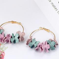 Trendy FashionTemperament Petals Earrings Circle Flower Earrings Jewelry flower 1 one size