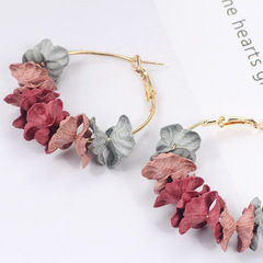 Trendy FashionTemperament Petals Earrings Circle Flower Earrings Jewelry flower 2 one size