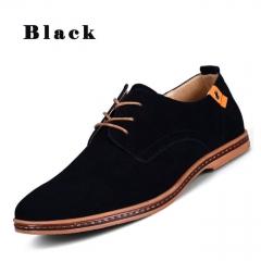 Fashion Men's Casual Leather Shoes black 38 oxfords