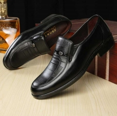 Style Shoes Luxury Brand Men's Top Pu Leather Male Formal Loafers Moccasins Hombre Zapatos black 38 leather
