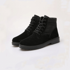 Men's army boots, wolf wolf casual work boots, high boots, waterproof shoes, Martin boots. black 39