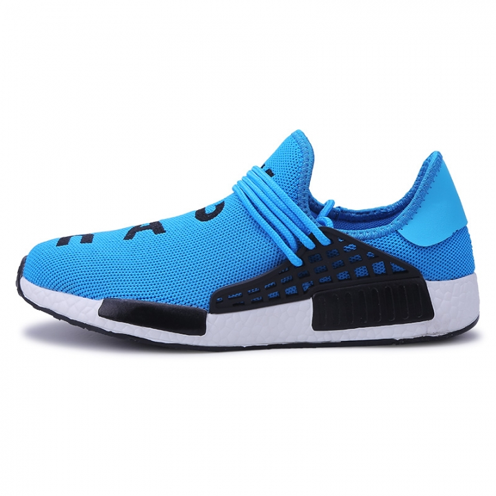cheap for discount ccec9 322bf Men Sports Shoes 2018 Summer New Mesh Sneakers Man Human Race Camouflage  Running Shoes blue 7.5