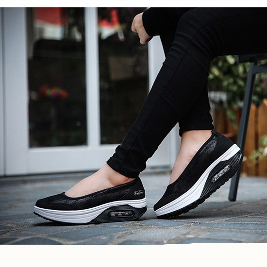 932db0bfb0e Women Flat Platform Shoes Woman Moccasin zapatos mujer Slip On For Ladies  Shoes Casual Flats black 7.5  Product No  2026646. Item specifics  Brand