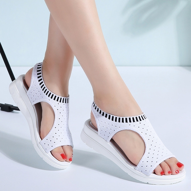 98cce7e8b935 Women Sandals Female Shoes Woman Summer Wedge Comfortable Sandals ...