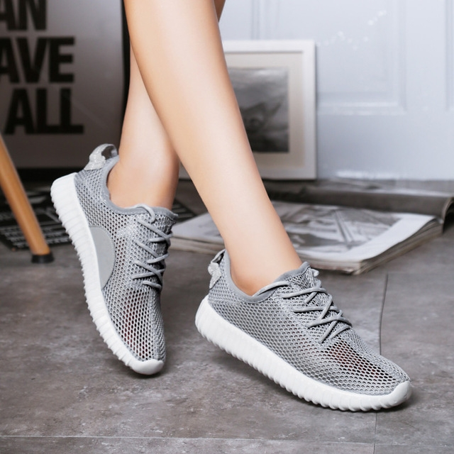 Sneakers Fashion Shoes Woman Flats Casual Mesh Flat Shoes Designer Female  Loafers Shoes for Women grey 5