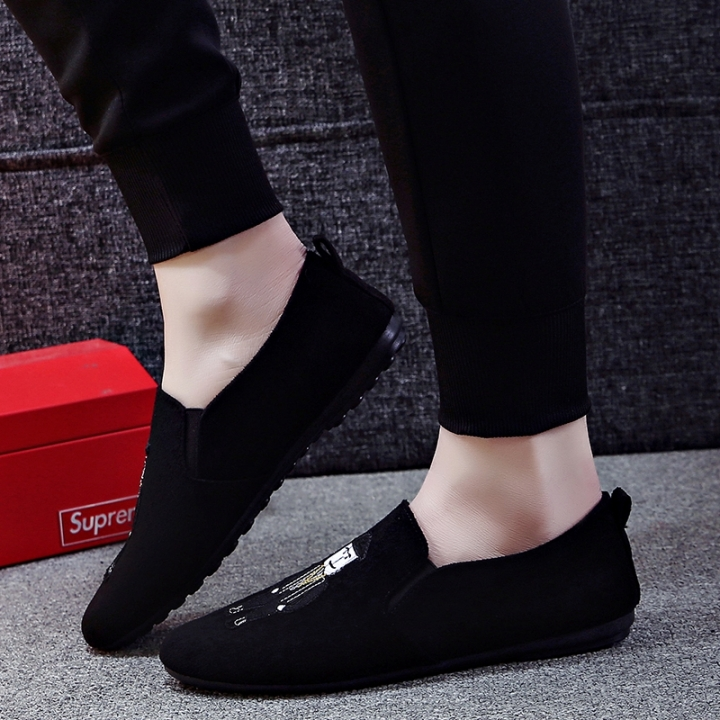 d3ef57968 New 2018 Korean Style Summer Men Loafers Man Suede Fashion Doug Shoes black  39