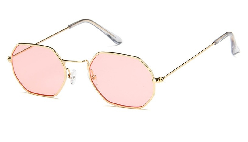 f45425073cc Fashion Women Sunglasses Small frame polygon Clear lens Sunglasses Designer  Hexagon Metal Frame pink one size  Product No  1976700. Item specifics   Brand