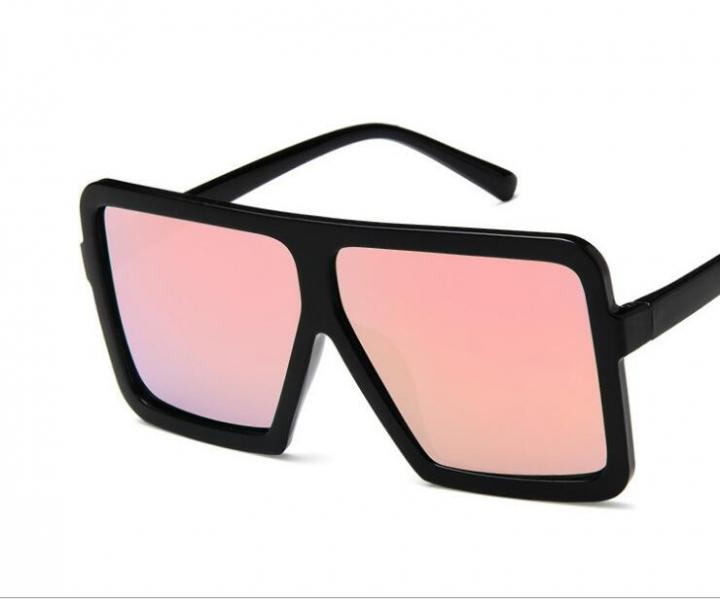 9188240551 Oversize Square Sunglasses Women Vintage Designer Sunglasses Men Big Black  Frame Glasses pink pictured