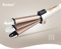 Hair Straightener Curly Hair Iron Professional Mini Hair Flat Iron Wet/Dryer Ceramic Styling Tools golden normal