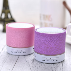 LED Bluetooth Speaker Mini Hand-Free Wireless With TF  Mic USB Audio Music Player For Android IOS purple mini