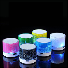 LED Bluetooth Speaker Mini Hand-Free Wireless With TF  Mic USB Audio Music Player For Android IOS blue mini
