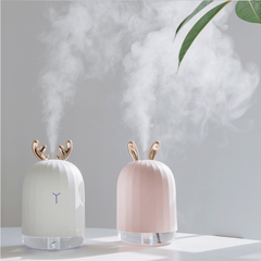 Molly Shop Hot Sell 220ML Mini Air Purifier Humidifiers for Home Diffuser with Lamp rabbit 8*8*13.9cm