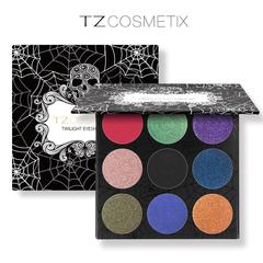 Molly Shop TZCosmetix Twilight Eyeshadow Matte Diamond Glitter Foiled Eye Shadow in One Palette as picture