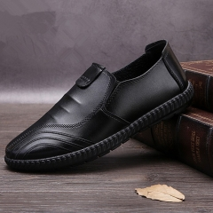 Leather Shoes for men Classic Business Dress Shoes Casual men's shoes Black 39