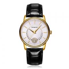 OCHSTIN Ladies  Watches Waterproof Leather Bracelet Watch Women Sapphire Quartz Wrist Watch white gold black