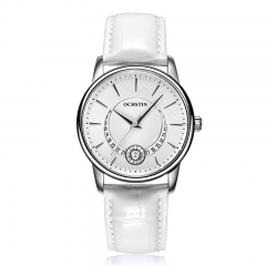 OCHSTIN Ladies  Watches Waterproof Leather Bracelet Watch Women Sapphire Quartz Wrist Watch white silver white