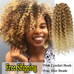 Freetress kinky curly crochet braids hair Marley bob braid eleven colours 27# as picture
