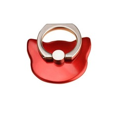 Mobile phone ring hook kickstand safe & secure grip mobile phone holder mount ring buckle grip red Rotates 360° & Swivels 180°