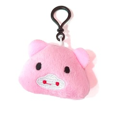 Pink pig key pendant plush toy bag accessory pendant car accessory craft gift pink bag pendant