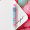 Ten colors in one pen multi-function marking pen craft gift promotional ball point pen Blue with white flamingo Ten-color pen