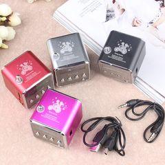 Portable Mini Speaker with Screen Radio MP3 Player Card-plugging Stereo Loudspeaker black 3W Micro SD/USB/TF Speaker